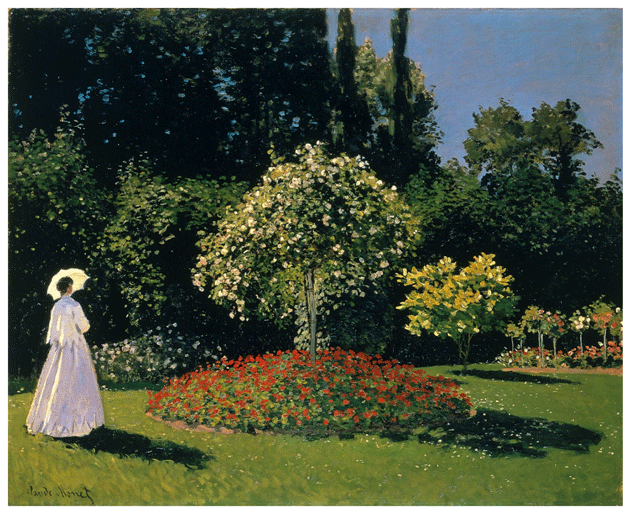 Claude Monet <i>Jeanne�Marguerite Lacadre in the Garden at Sainte�Adresse </i> (1866) oil on canvas 82 x 101 cm. The State Hermitage Museum
