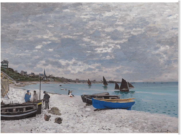 Claude Monet <i>The Beach at Sainte�Adresse </i>(1867) oil on canvas 78.5 x 102.5 cm The Art Institute of Chicago.