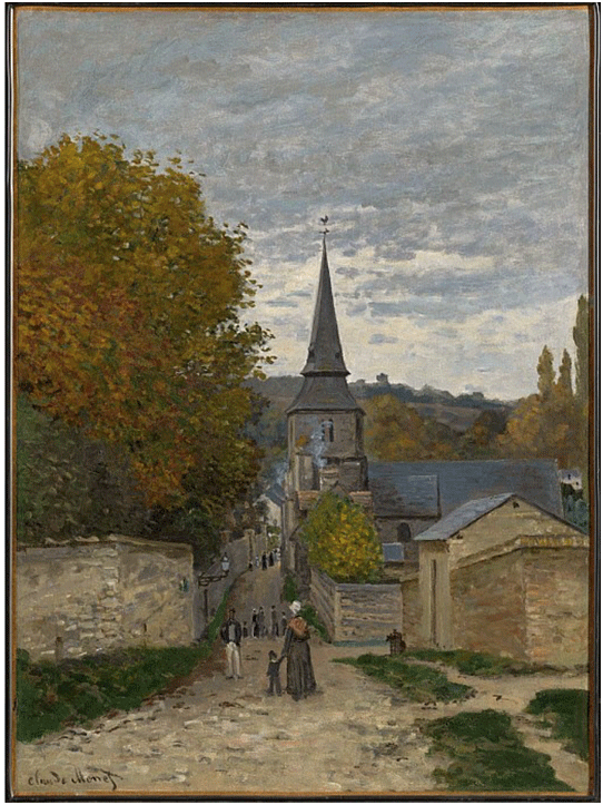 Claude Monet <i>Street in Sainte�Adresse </i>(1867) oil on canvas 80 x 59,2 cm The Clark.