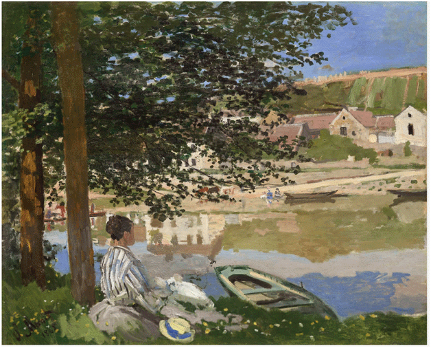 Claude Monet <i>On the Bank of the Seine, Bennecourt </i>(1868) oil on canvas 81,5 x 100,7 cm The Art Institute of Chicago.