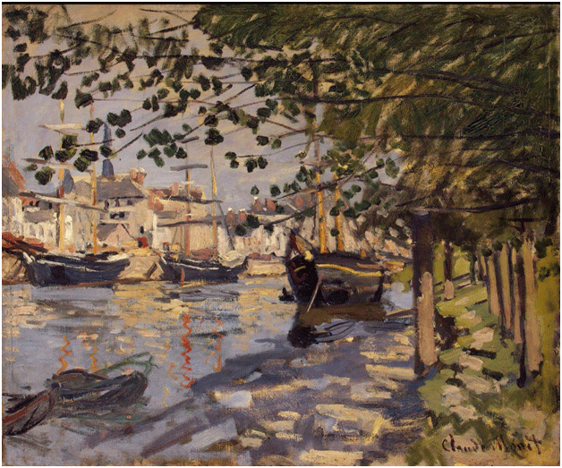 Claude Monet <i>The Seine at Rouen </i>(1872) oil on canvas 54 x 65,5 cm The State Hermitage Museum.