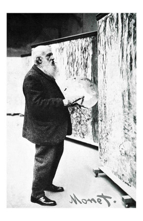 Monet working on water lilies, near end of life