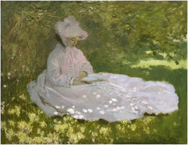 Claude Monet <i>Springtime </i>(1872) oil on canvas 50 x 65,5 cm The Walters.