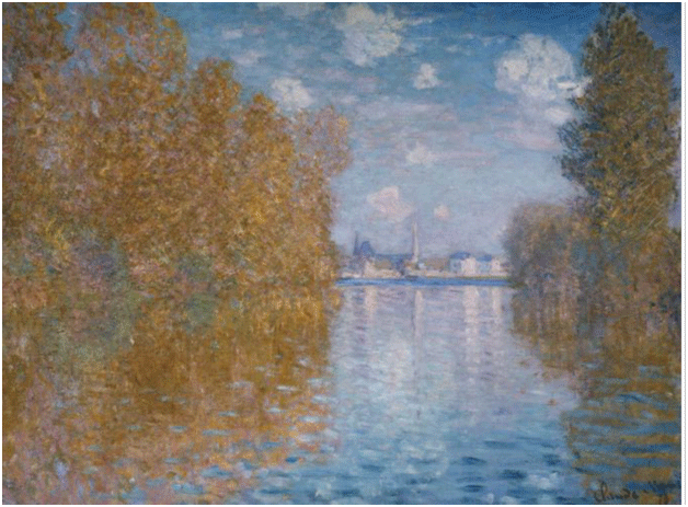 Claude Monet <i>Autumn Effect in Argenteuil </i>(1873) oil on canvas 94,5 x 75,5 cm The Courtauld.