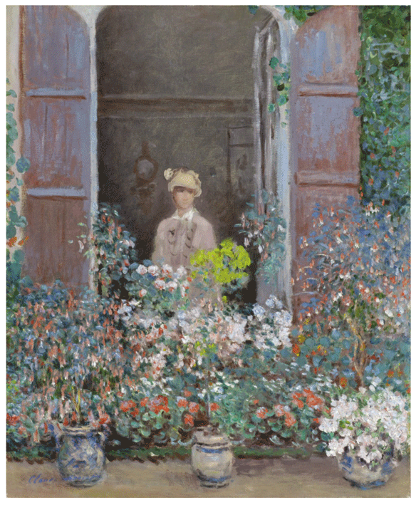 Claude Monet <i>Camille at the Window, Argenteiul </i>(1873) oil on canvas 60,3 x 49,85 cm Virginia Museum of Fine Arts.