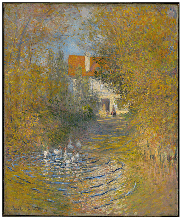 Claude Monet <i> The Geese</i> (1874) oil on canvas 73,7 x 60 cm. The Clark