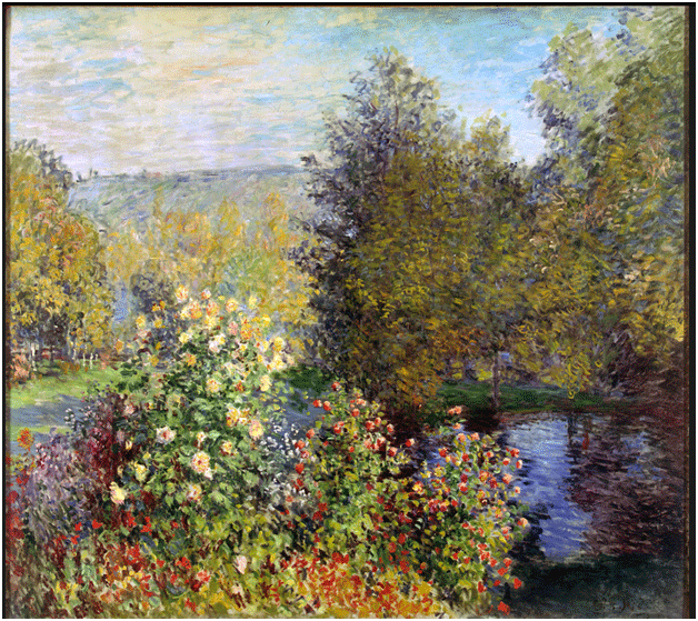 Claude Monet <i>Corner of the Garden at Montgeron </i>(c. 1876) oil on canvas 175 x 194 cm The State Hermitage Museum.