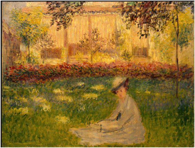 Claude Monet <i>Woman in the Garden </i>(1876) oil on canvas 50,1 x 65,5 cm The State Hermitage Museum.