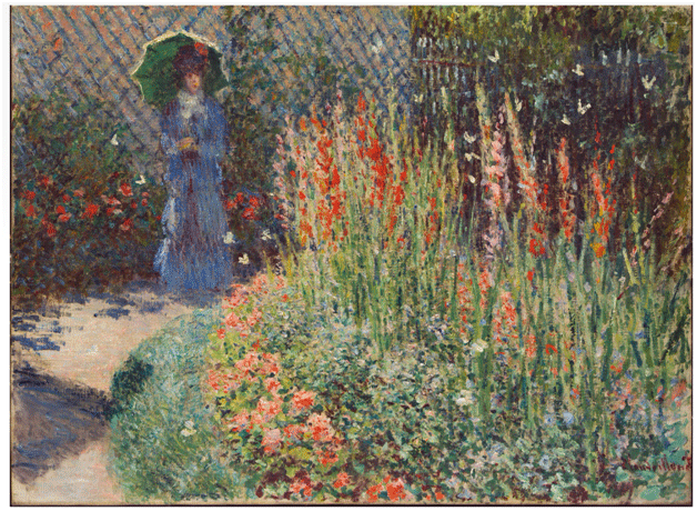 Claude Monet<i> Rounded Flower Bed </i>(1876) oil on canvas 59,3 x 81, 3 cm Detroit Institute of Arts