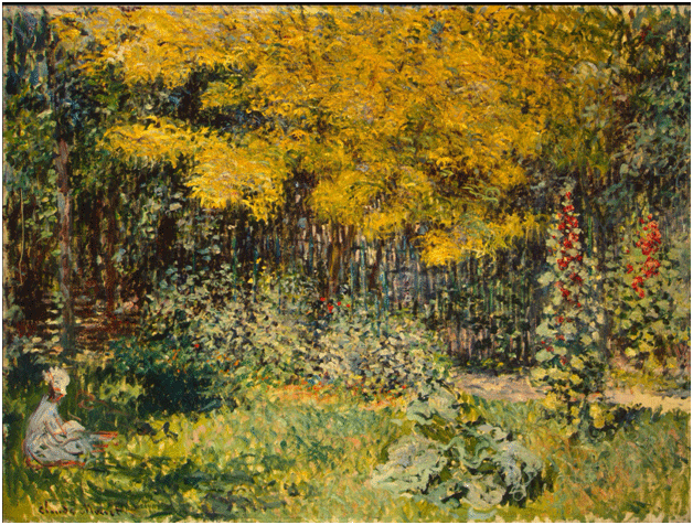 Claude Monet <i>Garden </i>(1876) oil on canvas 75,5 x 100,5 cm The State Hermitage Museum.