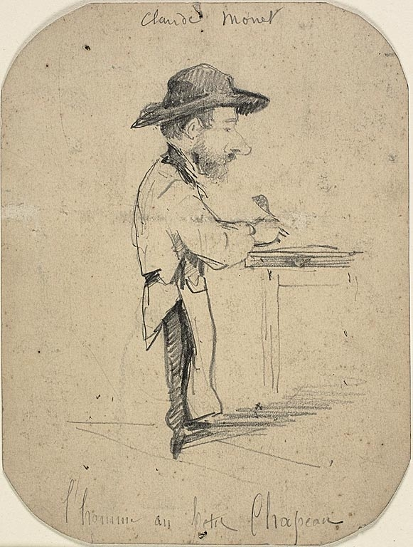 The Man in the Small Hat c. 1855-1856 Graphite on tan paper (ivory wove card)