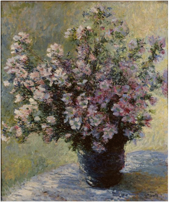 Claude Monet <i>Vase of Flowers </i>(1881) oil on canvas 81,8 x 104,5 cm The Courtauld.
