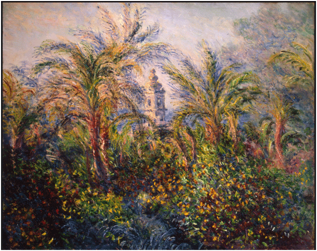Claude Monet <i>Garden in Bordighera </i>(1884) oil on canvas 65,5 x 81,5 cm The State Hermitage Museum.