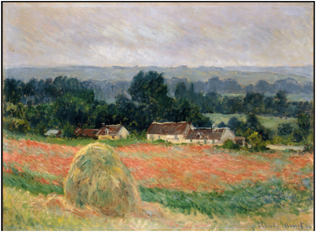 Claude Monet <i>Haystack at Giverny </i>(1886) oil on canvas 60,5 x 81,5 cm The State Hermitage Museum.