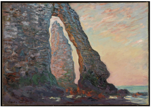 Claude Monet <i>Rock Needle seen through the Porte d'Aval, �tretat </i>(1886) oil on canvas 65,2 x 91,1 cm National Gallery of Canada.
