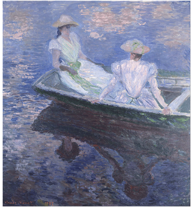 Claude Monet <i>On the Boat </i>(1887) 64 x 80,5 cm Mus�e d'Orsay.
