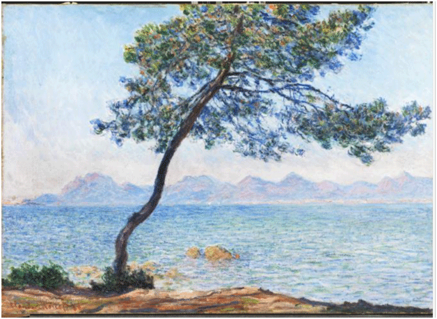 Claude Monet <i>Antibes </i>(1888) oil on canvas 85 x 112 cm The Courtauld.