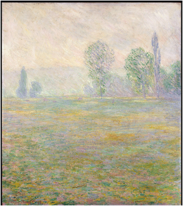 Claude Monet <i>Meadows at Giverny </i>(1888) oil on canvas 92,5 x 81,5 cm The State Hermitage Museum.