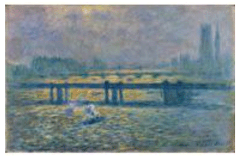 Claude Monet <i>Charing Cross Bridge, Reflections on the Thames <i>(1899) oil on canvas 65,1 x 100,3 cm Baltimore Museum of Art.