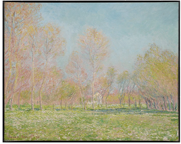 Claude Monet <i>Spring in Giverny </i>(1890) oil on canvas 64,8 x 81 cm The Clark.