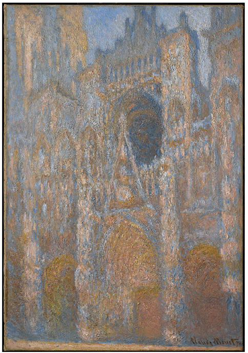 Claude Monet<i> Rouen Cathedral, the fa�ade in sunlight </i>(c. 1892�4) oil on canvas 106,7 x 73,7 cm The Clark.
