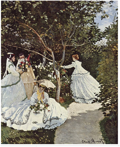 Claude Monet <i>Women in the Garden</i> (1866) oil on canvas 255 x 205 cm, Mus�e d'Orsay.