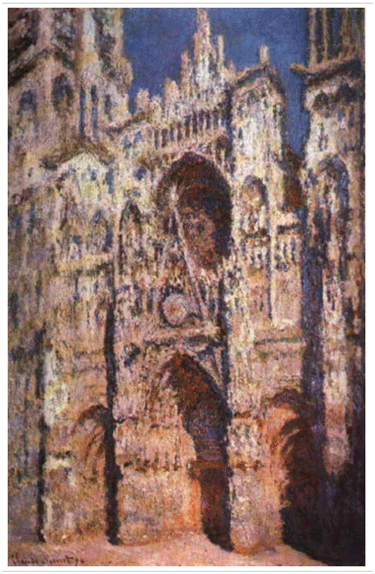 Claude Monet<i> Rouen Cathedral, Full Sunlight</i>(1894)oil on canvas 107 x 73,5 cm Mus�e d'Orsay.
