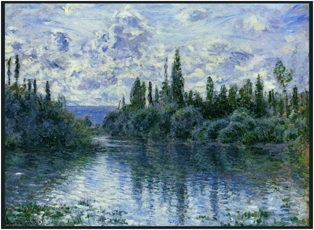 Claude Monet<i> Arm of the Seine at Giverny </i>(1897) oil on canvas 75 x 92,5 cm Mus�e d'Orsay.