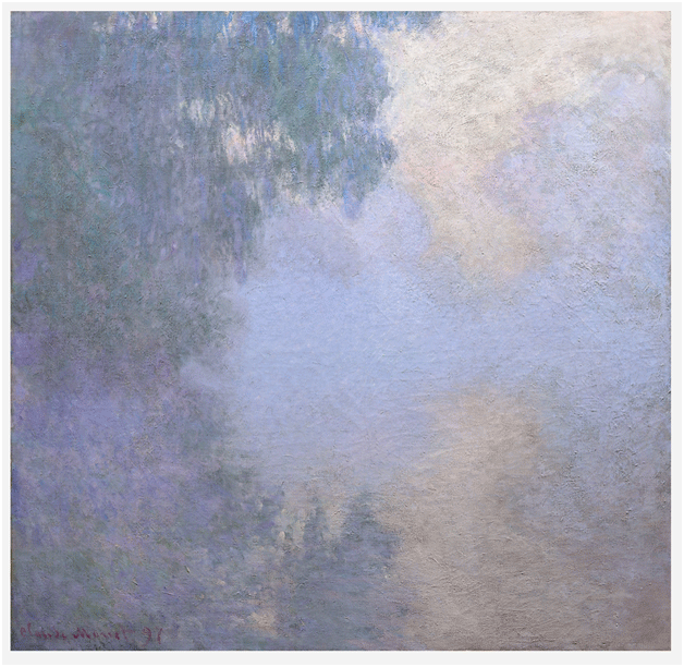 Claude Monet <i>Branch of the Seine near Giverny (Mist) </i>(1897) oil on canvas 89,9 x 92,7 cm The Art Institute of Chicago.