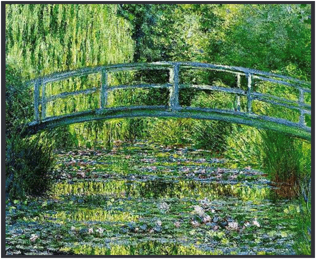 Claude Monet <i>Waterlily pond, Symphony in Green </i>(1899) oil on canvas 89,5 x 100 cm Mus�e d'Orsay.
