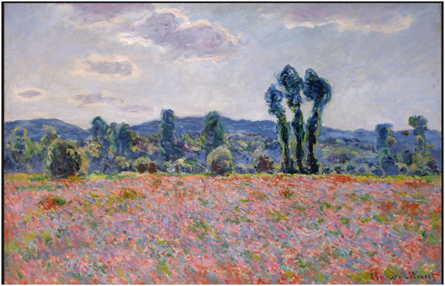Claude Monet <i>Poppy Field </i>(c. 1890) oil on canvas 60,5 x 81 cm The State Hermitage Museum.