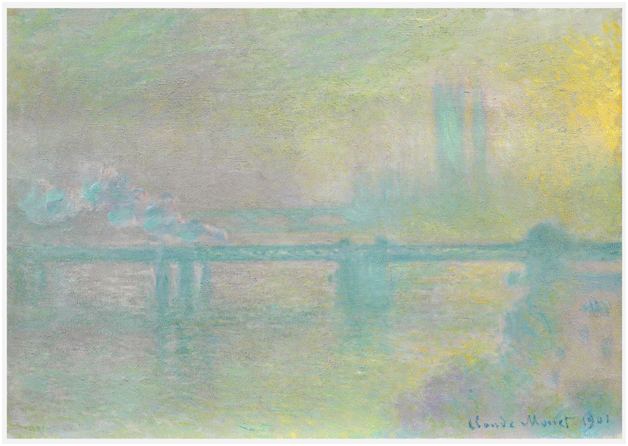 Claude Monet <i>Charing Cross Bridge, London </i>(1901) oil on canvas 65 x 92,2 cm The Art Institute of Chicago.
