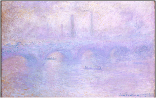 Claude Monet <i>Waterloo Bridge. Effect of Fog</i> (1903) oil on canvas 65,3 x 101 cm The State Hermitage Museum.