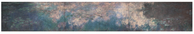 Claude Monet <i>Water Lilies </i>(1914) oil on canvas 200 x 424,8 Museum of Modern Art.