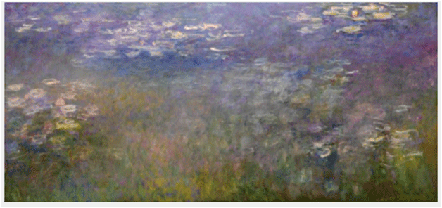 Claude Monet <i>Water Lilies</i> (1915�1926) oil on canvas 200,6 x 426 cm The Nelson�Atkins Museum of Art.